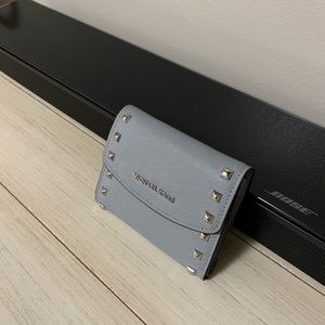 Studded Michael Kors compact wallet